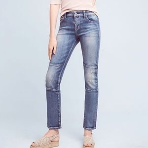 Pilcro Anthro Parallel Straight Leg Mid Rise Jeans